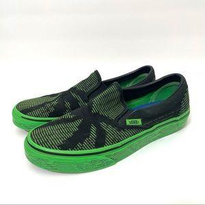 Vans Green Black Palm Print Slip on Sneaker Unisex